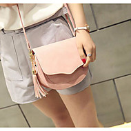 Women Bags PU Shoulder Bag for Casual Outdoor All Seasons Blue Black Blushing Pink