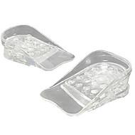1pair transparent 5 lag justerbar højere indersål silikone gel indsatser løftesko puder højde øge behagelig fodmassage