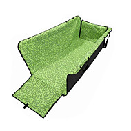 Cat Dog Car Seat Cover Pet Carrier Wateproof Portable Foldable Geometric Green