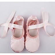 Női Balett Selyem Lapostalpú Gyakorlat Rózsaszín