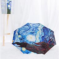 sternenhimmel schwarz gel sonnenschutz sonnenschirm kreative uv schutz regenschirm