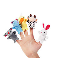 10pcs set cartoon dieren pluche vingerpoppens kids talk prop kinderen bos favor poppen