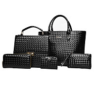 preiswerte 70%OFF-Damen Taschen PU Bag Set Reißverschluss für Normal Ganzjährig Blau Schwarz Rote Grau Braun