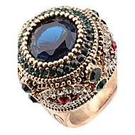 Dame Statement-ringe Ring Krystal Personaliseret Luksus Unikt design Klassisk Vintage Rhinestone Bohemisk Basale Tyrkisk