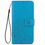 Kotelo xiaomi redmi 4x kotelon kannen kortin haltija lompakko, jossa jalusta käännettävä kohokuvioitu koko kehon kotelo kiinteä väri kova