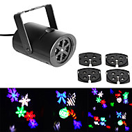 Jiawen 3w 4 patronen rgb LED-stage effect licht laser projector voor kerstfeest kerstfeest disco dj bar club ktv lamp led logo licht