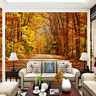 billige Tapet-Art Deco Landskap Tre Tapet til Hjemmet Tapetsering , Lerret Materiale selvklebende nødvendig Veggmaleri , Tapet