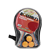 tanie Tenis stołowy-Ping Pang/Rakiety tenis stołowy Ping Pang/Tenis stołowy Ball Ping Pang Gumowy Długi uchwyt Pryszcze 2 Rakieta 3 Piłeczki do tenisa