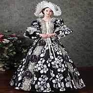 Χαμηλού Κόστους Steampunk®-Rococo Victorian Στολές Γυναικεία Φορέματα Κοστούμι πάρτι Χορός μεταμφιεσμένων Τουαλέτα Πεπαλαιωμένο Cosplay Σατέν Μακρυμάνικο Μακρύ Κοστούμια Halloween