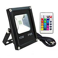 baratos Focos-1pç 10 W Focos de LED Impermeável / Controlado remotamente / Regulável RGB 85-265 V Iluminação Externa / Pátio / Jardim 1 Contas LED