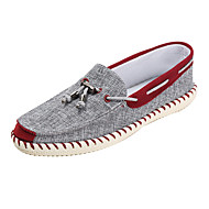 cheap Men's Boat Shoes-Men's Shoes Fabric Spring / Fall Comfort / Light Soles Boat Shoes Blue / Burgundy