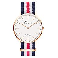 Geneva Men's Wrist Watch Quartz Nylon Black / Brown Analog Ladies Luxury Vintage Casual Fashion - Green Pink White / Red One Year Battery Life / SSUO 377