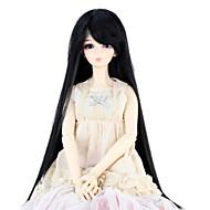 Naisten Synteettiset peruukit Suora Jet Black Doll Wig puku Peruukit