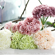 cheap Artificial Flowers-10inch Large Size 5 Heads Silk Polyester Peonies Tabletop Flower Artificial Flowers