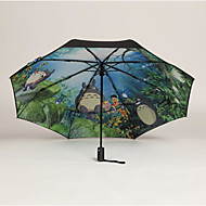 totoro musta geeli aurinkovarjo aurinko sateenvarjo luova UV suojelu sateenvarjo
