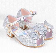baratos Sapatos de Menina-Para Meninas Sapatos Courino Verão Conforto / Sapatos para Daminhas de Honra Rasos Lantejoulas para Prateado / Azul / Rosa claro