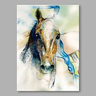baratos -Pintados à mão Animal Vertical,Alta qualidade 1 Painel Tela Estampado For Decoração para casa