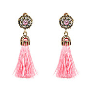Žene Viseće naušnice - Boemski stil Moda Bež Dark Blue Crvena Hot Pink Svjetloplav Krug Naušnice Za Party