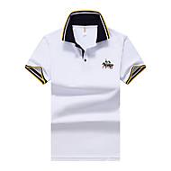 Masculino Polo Casual Simples Verão,Sólido Poliéster Colarinho de Camisa Manga Curta Opaca