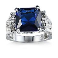 Dame Stenindfatning Ring Båndringe Kvadratisk Zirconium RhinstenEnkelt design Unikt design Rhinsten Geometrisk Venskab minimalistisk stil