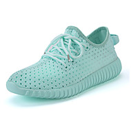 Women's Sneakers Light Soles Spring Summer Tulle Running Shoes Casual Outdoor Flat Heel White Gray Fuchsia Green Blushing Pink Flat