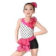 お買い得  セール-子供用ダンスウェア レオタード 女性用 子供用 性能 オーガンザ ライクラ ラッフル ノースリーブ ナチュラルウエスト