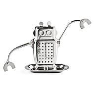 1 stück roboter form teebeutel edelstahl metallic textur tee-ei