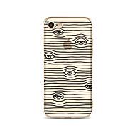 Etui Käyttötarkoitus Apple iPhone X iPhone 8 Plus Läpinäkyvä Kuvio Takakuori Linjat / aallot Piirretty Pehmeä TPU varten iPhone X iPhone