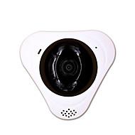 billige IP-kameraer-Ip kamera panoramavinkel 360 wifi sikkerhet cctv innendørs mikrofon minnekortspor lagring