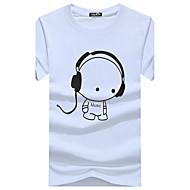 T-shirt Per uomo Fine settimana Attivo Stoffe orientali Con stampe Stampe Rotonda - Cotone
