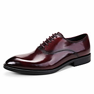 Masculino sapatos Couro Pele Primavera Outono Sapatos formais Sapatos De Casamento Para Casamento Casual Festas & Noite Preto Marron Vinho