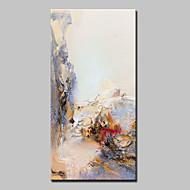 מצויר ביד מופשט אנכי,מופשט (אבסטרקטי) מודרני פנל אחד בד ציור שמן צבוע-Hang For קישוט הבית