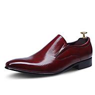 Masculino sapatos Couro Pele Primavera Outono Sapatos formais Sapatos De Casamento Para Casamento Festas & Noite Preto Vinho