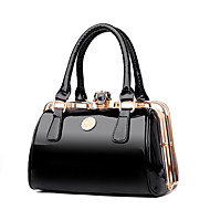Women Bags PU Tote Crystal Detailing Zipper for Wedding Event/Party All Seasons Blue Black Red