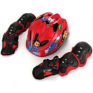 Χαμηλού Κόστους Προστατευτικός Εξοπλισμός-Προστατευτικό σετ εξοπλισμού / Επιγονατίδες, περιαγκώνια και περικάρπια / Κράνος για πατίνι για Σκι / Πατινάζ / Ποδηλασία / Ποδήλατο Ρυθμιζόμενο / Reflectoare / Αναπνέει 7 πακέτο Σφουγγάρι / EPS+EPU