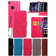 billiga Mobil cases & Skärmskydd-fodral Till Huawei Honor 7 / huawei P9 / Huawei P9 Lite Plånbok / Korthållare / med stativ Fodral Enfärgad Hårt PU läder för P10 Plus / P10 Lite / P10 / Huawei P9 Plus / Mate 9 Pro