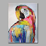 Ručno oslikana Životinja Vertikalno,Moderna Jedna ploha Platno Hang oslikana uljanim bojama For Početna Dekoracija