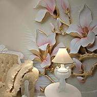 billige Tapet-Veggmaleri Lerret Tapetsering - selvklebende nødvendig 3D / Mønstret / Blomst