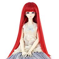Naisten Synteettiset peruukit Suora Punainen Otsatukalla Doll Wig puku Peruukit