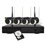 Yanse® 1tb 960p langaton wifi-valvontakamera asetettu ip kamera nvr kit järjestelmä turva koti 1.3 mp