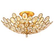 lightmyself 3ライトゴールデンモダンクリスタル天井ランプ屋内照明居間のベッドルームダイニングルーム