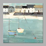 billiga Landskapsmålningar-Hang målad oljemålning HANDMÅLAD - Landskap Artistisk Inkludera innerram / Sträckt kanfas