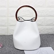 Women Bags All Seasons PU Bucket Bag for Casual White Black Brown