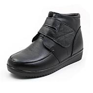 Damer Sko PU Vinter Komfort Støvler Til Afslappet Sort