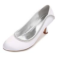baratos Sapatos Femininos-Mulheres Sapatos Cetim Primavera / Verão Plataforma Básica / Conforto Sapatos De Casamento Salto Sabrina / Salto Baixo / Salto Agulha
