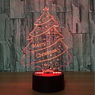 3d atmosferă de copac colorat a condus lumina de noapte lumina dispoziție cadou de ani prezent pentru copil