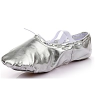 "Women's Ballet Synthetic Flat Indoor Flat Heel Gold Silver Under 1"" Customizable"