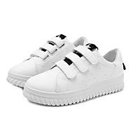 Dames Schoenen PU Lente Herfst Comfortabel Sportschoenen Creepers Ronde Teen Veters Voor Zwart Geel Rood Groen