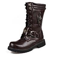 Heren Laarzen Comfortabel Noviteit Modieuze laarzen Legerlaarzen Synthetisch Microvezel PU PU Herfst Winter Causaal Feesten & Uitgaan