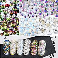 800 Nail Art Dekorace drahokamu Pearls make-up Kosmetické Nail Art design